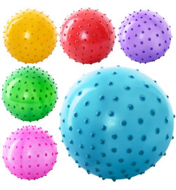 Мяч массажный MS 0021 (1000шт) 3 дюйма, 5 цветов, 20 г