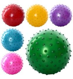 Мяч массажный MS 0663 (550шт) 30гр, 5дюймов, 6 цветов