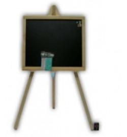 Доска для рисования на 3- ноге большая 70*45см односторонняя(черная плоскость) ольха