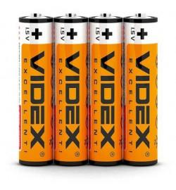 Батарейка  солевая Videx R03P/AAA 4pcs SHRINK/60