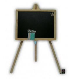 Доска для рисования на 3- ноге малая 48*35 см односторонняя (черная плоскость) ольха