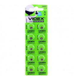 Батар часов Videx  AG 0 (LR521) BLISTER CARD 10 pcs
