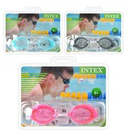 Очки для плавания 55684 (12шт) 3 цвета, от 8лет, в слюде, 19,5-16-5см