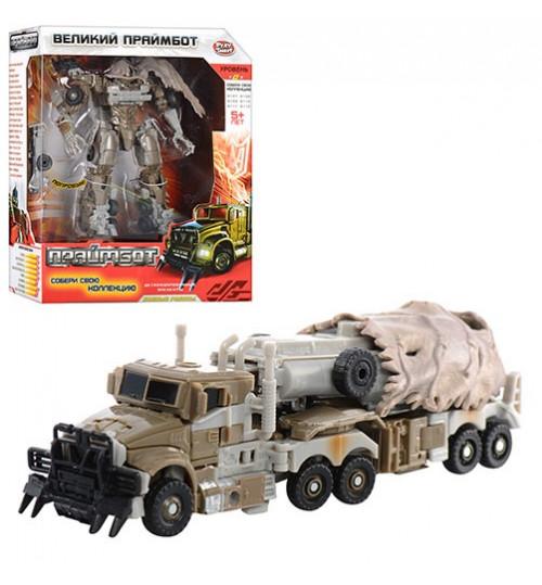 Трансформер H 604/8110  (24шт) Праймбот, робот(17см) - трейлер (военный), в кор-ке, 27-22-10см