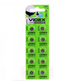 Батар часов Videx AG 2/LR726 BLISTER CARD 10 pcs