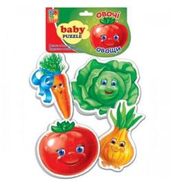 Беби пазлы Овощи,Фрукты  (новый штрихкод) VT1106-03-04