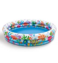 Бассейн 59431 (12шт) Круг детский, 3 кольца, 132-28cм
