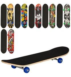 Скейт MS 0322-2 (6шт) 78-20см,алюм.подвеска,колесаПВХ,7слоев,608Z,макс.нагр.40кг,микс видов,разобр,