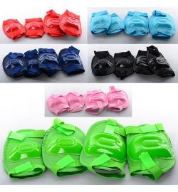 Защита MS 0683 (50шт) для коленей и локтей, 6 цветов, в кульке, 19-21-3,5см