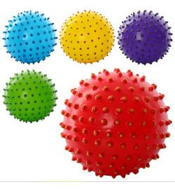 Мяч массажный MS 0025 (250шт) 5 дюймов, ПВХ, 45г, двухцветный, 5 цветов