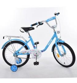 Велосипед детский PROF1 16д. L1684 (1шт) Flower, голубой,звонок,доп.колеса