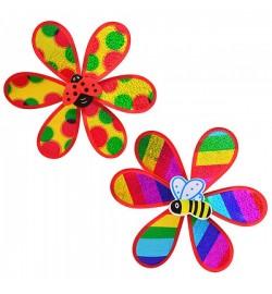 Ветрячок M 0791 (200шт) размер средний, цветок, 2 вида, в кульке, 28-28см
