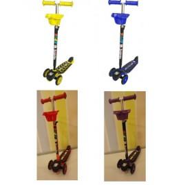 Самокат (рульова колонка велика) Бірюзовий,Зелений,Червоний,Рожевий,Лимонний,Бузковий