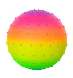 Мяч массажный MS 0939 (250шт) 5,5дюймов, радуга, ПВХ, 45г