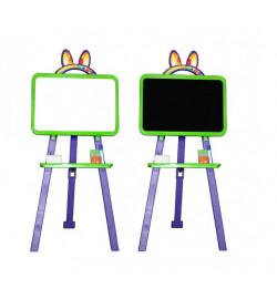 Дошка для малювання 013777/6 салатово - фіолетовий (крейда, маркер, мочалка)