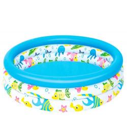 BW Бассейн 51008 (12шт) детский, круглый, 102-25 см, 3 кольца, в кор-ке,