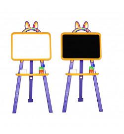 Дошка для малювання 013777/4 жовто - віолетовий  (крейда, маркер, мочалка)