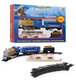 ЖЕЛ Д 7014 (612) (12шт) Голубий вагон, муз(укр), свет, дым, длина путей 282см, в кор-ке, 48-30-7см