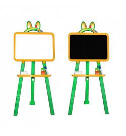 Мольберт  для малювання 013777/2 жовто - зелений  (крейда, маркер, мочалка)