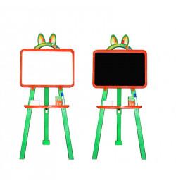Мольберт  для малювання 013777/3 помаранчево - зелений  (крейда, маркер, мочалка)