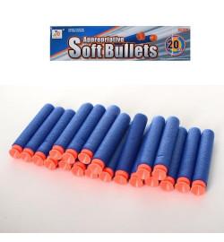 Пульки 02-20  (144шт) мягкие-присоски 20шт, в кульке, 28-15-1см
