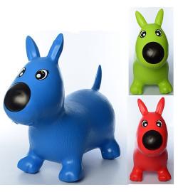 Прыгуны-собачки MS 1592 (12шт) ПВХ, 1300г, 3 цвета, в кульке, 32-34-7см