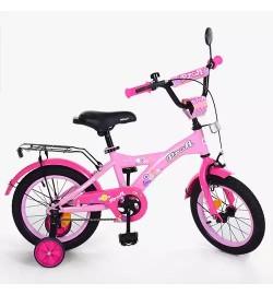 Велосипед детский PROF1 16д. T1661 (1шт) Original girl,розовый,звонок,доп.колеса