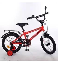 Велосипед детский PROF1 16д. T1675 (1шт) Forward,красный,звонок,доп.колеса