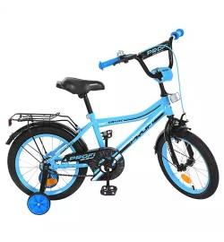 Велосипед детский PROF1 16д. Y16104 (1шт) Top Grade,бирюзовый,звонок,доп.колеса