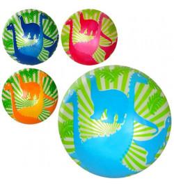 Мяч детский MS 1291 (120шт) 9дюймов,дракон,полноцветный,60г,4цвета