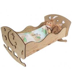 Іграшкове ліжко для ляльок 43*23(фанера)