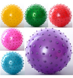 Мяч массажный MS 0664 (250шт) 6 дюймов, ПВХ, 45г, 6 цветов