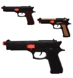 Пистолет 426-1-4-7 (216шт) трещотка, искрит, 3цвета, в кульке, 23-13-4см