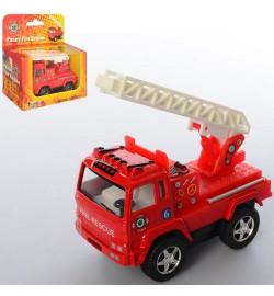 Машинка KS 3507 W (24шт) металл, инер-я,пожарная,8см,резин.колеса,открыв.двери, в кор-ке,11,5-11-5с