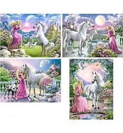 Пазлы Castorland 120 mini Принцесса и единорог, 120 эл. 8 шт. в упаковке