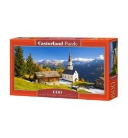 Пазлы Castorland 600 эл.  Церковь, Австрия