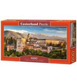 Пазлы Castorland 600 эл.  Вид на Альгамбра
