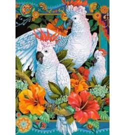 Пазлы Castorland 1500 эл. Белые попугаи