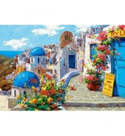 Пазлы Castorland 2000 эл. Весна в Санторини