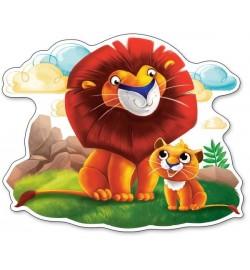 Пазлы Castorland 12maxi эл. Лев и львёнок