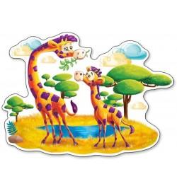 Пазлы Castorland 12maxi эл. Жирафы в Саванне