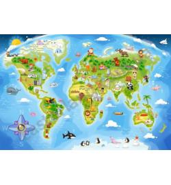 Пазлы Castorland 40maxi эл. Карта мира