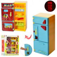Холодильник XS-14006 (36шт) 21см, муз, свет, продукты, на бат-ке, в кор-ке, 21-27-10,5см