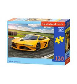 Пазлы Castorland 120 midi эл. Жёлтый спортивный автомобиль