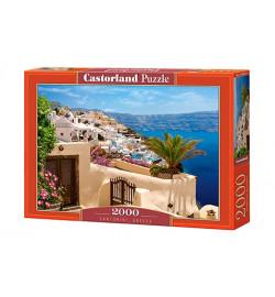 Пазлы Castorland 2000 эл. Санторини, Греция