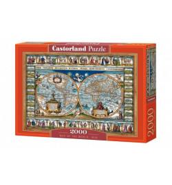 Пазлы Castorland 2000 эл. Карта мира