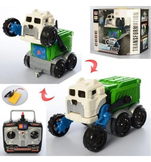 Трансформер 999G-44C (6шт) р/у2,4G,аккум, робот-собака+машина24см, муз,св,USзар,в кор,29-23,5-29,5с