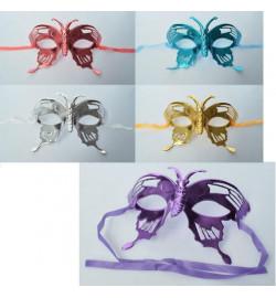 Аксессуары для праздника MK 2305 (480шт) карнавальная маска, завязки,микс цв,в кульке,19-9-8см