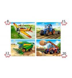 Пазлы Castorland 4х1(8,12,15,20) Транспорт