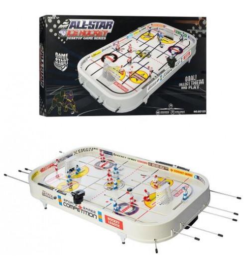Хоккей B2125 (4шт) 48-89-12см, на штангах, на ножках, фигурки 12шт, шайбы, в кор-ке, 54-99-12см